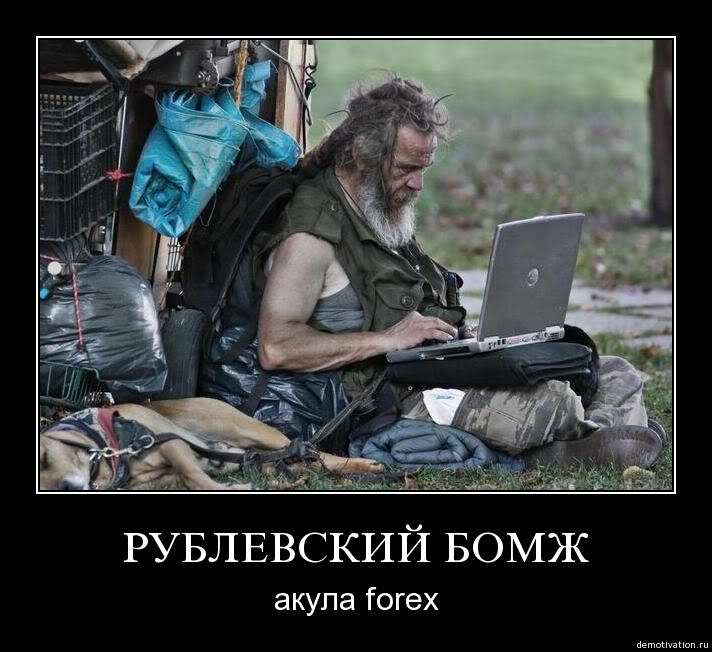 Рублевский бомж - акула Forex