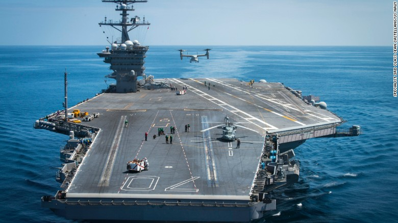 Post «US Deploys Second Aircraft Carrier Toward Korean Peninsula» in ...