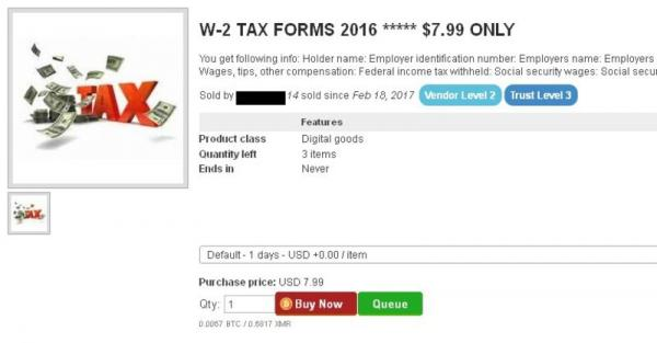 For Sale On The Dark Web: Your Tax Refund And Social Security Number