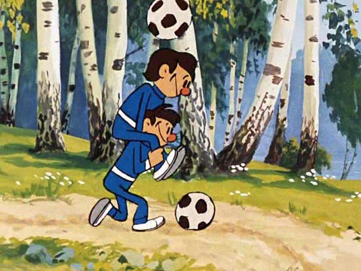 Картинки мультиков про футбол