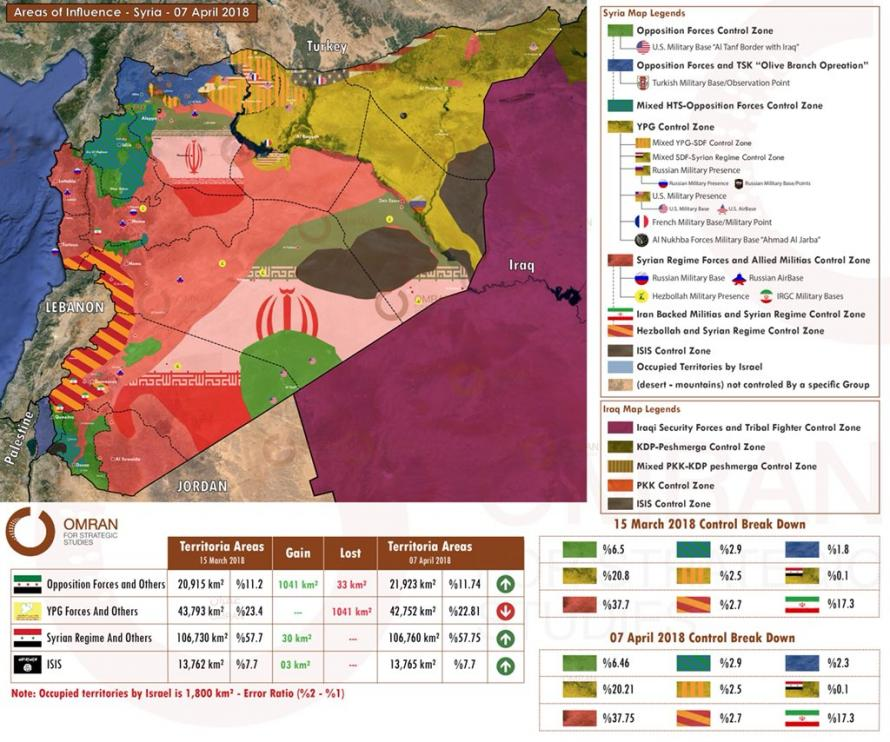 Post A Map Of The Syrian War Who Is Who And Where in blog Zero